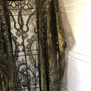 Emerette Jackets & Coats - 🌷Lace tassel lace kimono. Size L NWOT army green